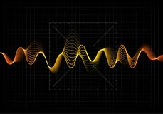 Illustration de vecteur d'égaliseur L'icône abstraite de vague a placé pour la musique et le bruit Lignes onduleuses de mouvement Photo libre de droits