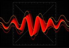 Illustration de vecteur d'égaliseur L'icône abstraite de vague a placé pour la musique et le bruit Lignes onduleuses de mouvement Photos stock