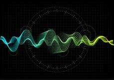 Illustration de vecteur d'égaliseur L'icône abstraite de vague a placé pour la musique et le bruit Lignes onduleuses de mouvement Photos libres de droits