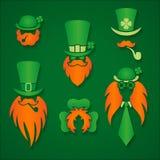 Illustration de vecteur d'éléments de conception du jour de St Patrick Photos stock