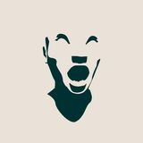 Illustration de vecteur d'émotions de visage d'expressions d'avatar de femme Photos libres de droits