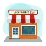 Illustration de vecteur d'épicerie Illustration de supermarché Illustration de Vecteur