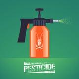 Illustration de vecteur d'équipement de jet de lutte contre les insectes de parasite Image stock