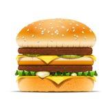 Illustration de vecteur d'aliments de préparation rapide d'hamburger Images stock