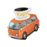 Illustration de vecteur d'aliments de préparation rapide de café de voiture sur le fond blanc Images libres de droits