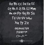 Illustration de vecteur d'alphabet marqué à la craie Images libres de droits