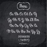 Illustration de vecteur d'alphabet marqué à la craie Images stock