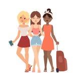 Illustration de vecteur d'amies de vacances Image libre de droits