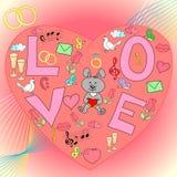 Illustration de vecteur d'amour Images libres de droits