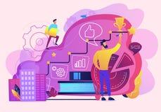 Illustration de vecteur d'analyse de données de local commercial illustration stock