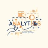Illustration de vecteur d'Analytics et de statistiques Photos stock