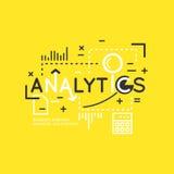 Illustration de vecteur d'Analytics et de statistiques Photographie stock