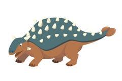 Illustration de vecteur d'Ankylosaurus dans le style de bande dessinée pour des enfants illustration stock