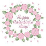 Illustration de vecteur d'anneau de fleur de Saint-Valentin Photos libres de droits
