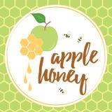 Illustration de vecteur d'Apple et de Honey Jewish New Year Symbols Photographie stock