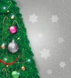 Illustration de vecteur d'arbre de Noël décoré illustration de vecteur