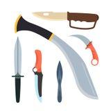 Illustration de vecteur d'arme de couteaux Photo libre de droits
