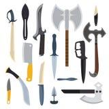 Illustration de vecteur d'arme de couteaux Images stock