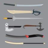 Illustration de vecteur d'arme de couteaux Photographie stock