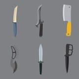 Illustration de vecteur d'arme de couteaux Image stock