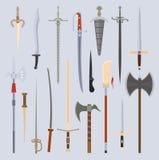 Illustration de vecteur d'arme de couteaux Images libres de droits