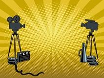 Illustration de vecteur d'art de bruit d'appareils-photo de film d'étape Photos stock