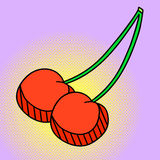 Illustration de vecteur d'art de Cherry Pop Photo libre de droits