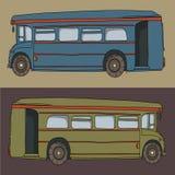 Illustration de vecteur d'autobus de bande dessinée Photographie stock libre de droits