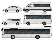 Illustration de vecteur d'autobus et de voitures Photos libres de droits