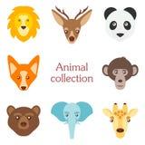 Illustration de vecteur d'ensemble animal drôle d'icône Photo stock