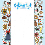 Illustration de vecteur d'ensemble d'éléments d'Oktoberfest Photographie stock libre de droits