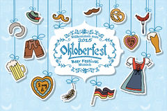 Illustration de vecteur d'ensemble d'éléments d'Oktoberfest Image libre de droits