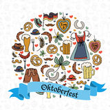 Illustration de vecteur d'ensemble d'éléments d'Oktoberfest Photo stock