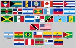 Illustration de vecteur d'ensemble différent de drapeaux de pays illustration de vecteur