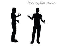 Illustration de vecteur d'ENV 10 d'un homme dans la pose debout de présentation sur le fond blanc Photographie stock libre de droits