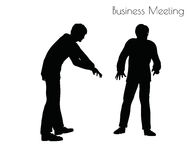 Illustration de vecteur d'ENV 10 de l'homme dans la pose de réunion d'affaires sur le fond blanc Photographie stock