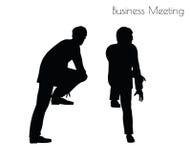 Illustration de vecteur d'ENV 10 de l'homme dans la pose de réunion d'affaires sur le fond blanc Image stock