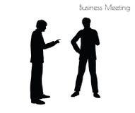 Illustration de vecteur d'ENV 10 de l'homme dans la pose de réunion d'affaires sur le fond blanc Photos stock