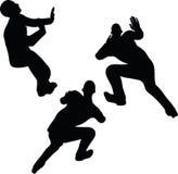 Illustration de vecteur d'ENV 10 en silhouette de mur d'araignée d'homme d'affaires Photo stock
