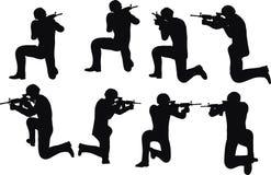Illustration de vecteur d'ENV 10 en silhouette de pousse de soldat d'homme d'affaires Image stock
