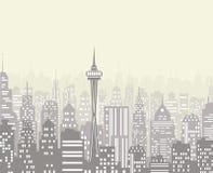 Illustration de vecteur d'horizon de ville illustration stock
