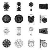 Illustration de vecteur d'horloge et d'icône de temps Collection de symbole boursier d'horloge et de cercle pour le Web illustration de vecteur