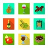 Illustration de vecteur d'icône de ferme et de vignoble Collection de symbole boursier de ferme et de produit pour le Web illustration de vecteur