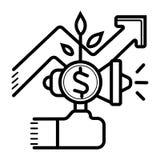 Illustration de vecteur d'icône de graphique de gestion illustration stock