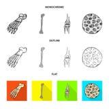 Illustration de vecteur d'icône de médecine et de clinique Placez de la médecine et de l'icône médicale de vecteur pour des actio illustration de vecteur