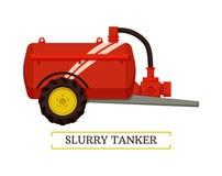Illustration de vecteur d'icône de machines de bateau-citerne de boue illustration stock