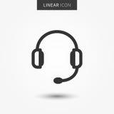 Illustration de vecteur d'icône d'écouteurs illustration stock