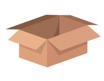 Illustration de vecteur d'icône d'isolement par emballage de carton de boîte illustration libre de droits