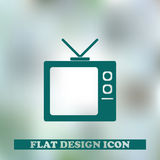 Illustration de vecteur d'icône de TV Images stock