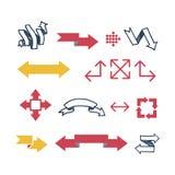 Illustration de vecteur d'icône de Web de flèche Photo libre de droits